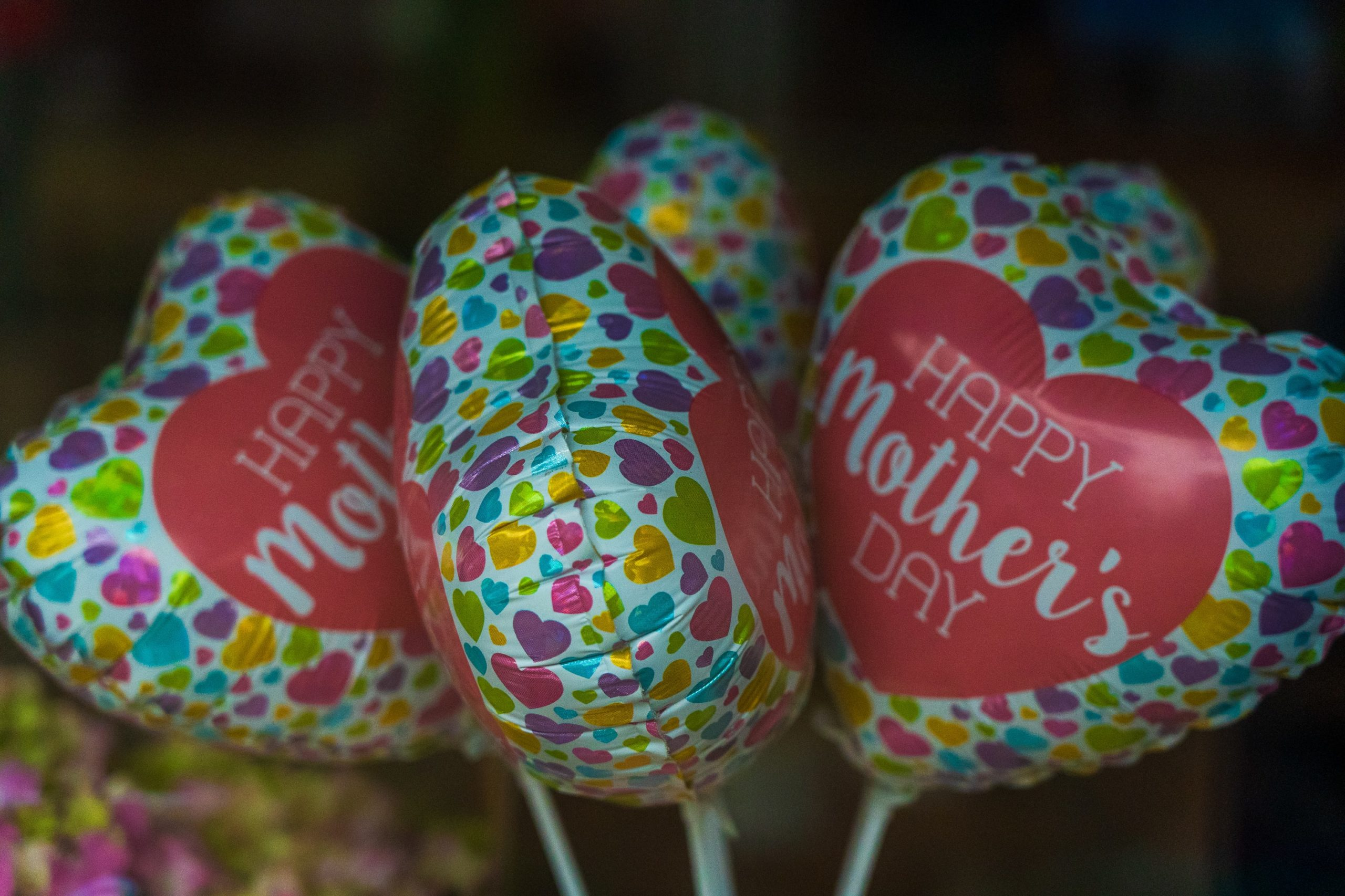 Balloons Saying Happy Mother's Day in Our Rental in Park City.