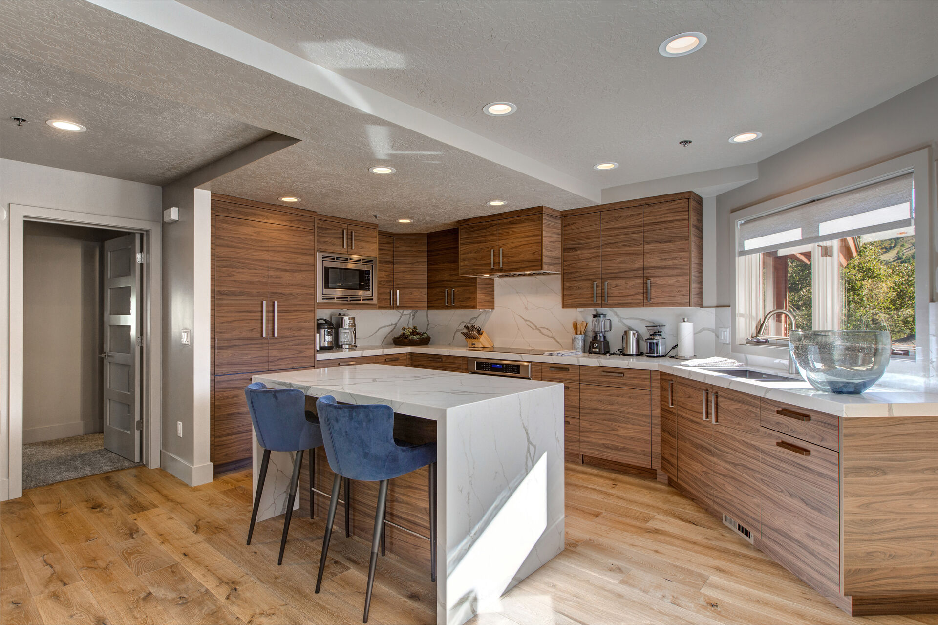 Kitchen with Counter Table in Our Deer Valley Ski In Ski Out Rentals.