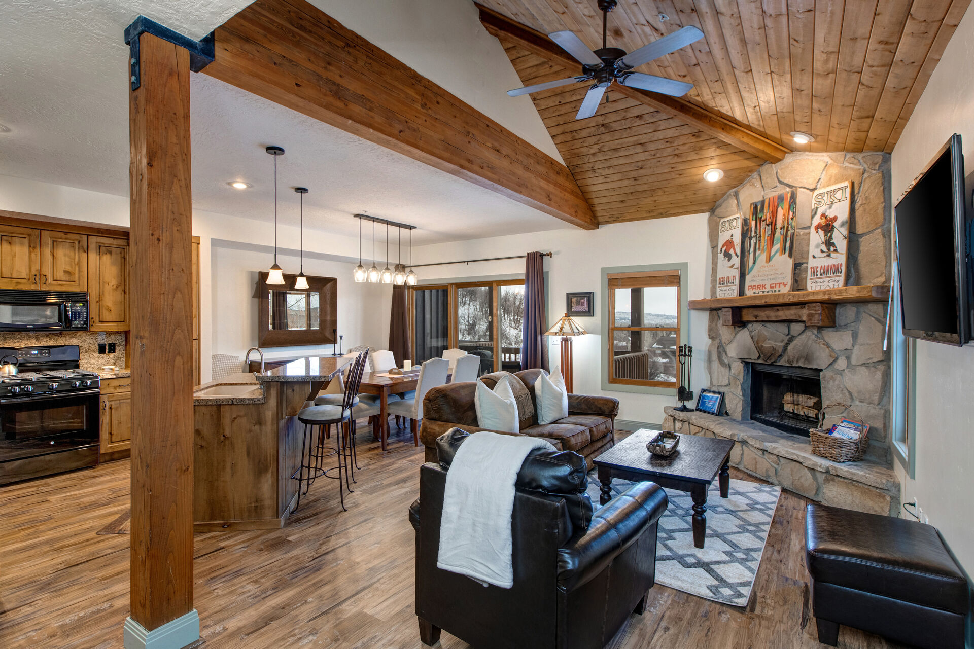 Main Level Great Room in One of Our Prospector Condos Park City.