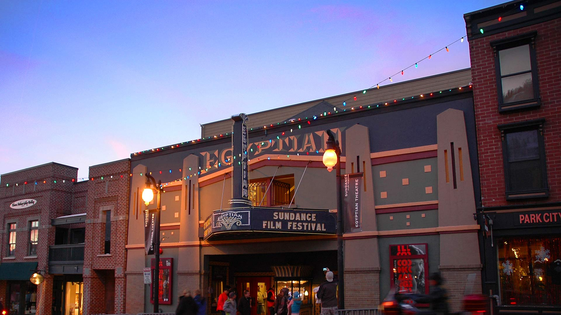 Front Picture of the Egyptian Theater of the Sundance Film Festival.